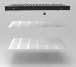 Actief ventilatiepaneel SFT Type Ecologic opbouw